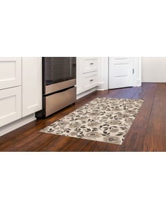 Moonlight Rose - Taupe Floor Flair - 3 x 5