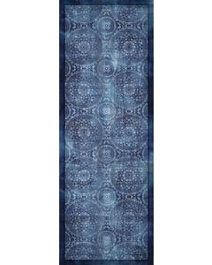 Medallion Blue Floor Flair - 2.5 x 7