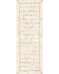 White Washed Wood Floor Flair - 2.5 x 7