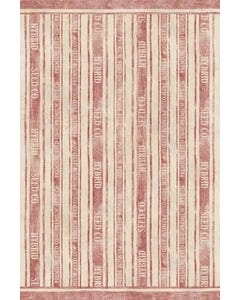 Feed Sack Stripe - Red Floor Flair - 4 x 6