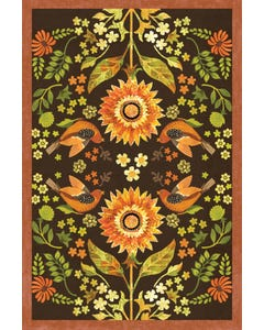 Indian Summer Floral Floor Flair - 4 x 6