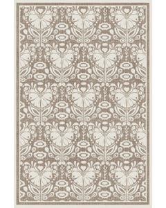 Poppy Damask - Taupe Floor Flair - 4 x 6