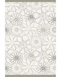 Tuscan Floral - Grey Floor Flair - 4 x 6