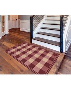 Buffalo Check - Cranberry Floor Flair - 4 x 6