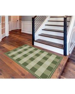 Buffalo Check - Green Floor Flair - 4 x 6