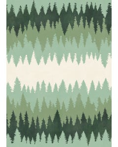 Forest Treeline Floor Flair - 5 x 7