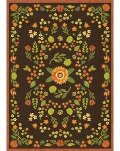 Indian Summer Floral Floor Flair - 5 x 7