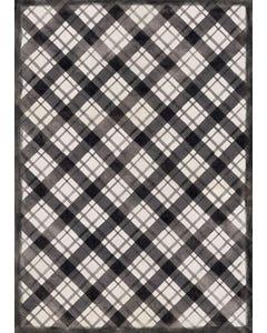 Diagonal Plaid Floor Flair - 5 x 7