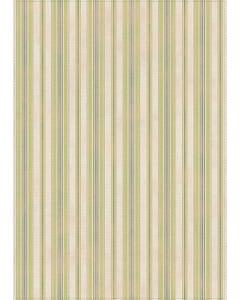 Ticking Stripes - Green/Brown Floor Flair - 5 x 7
