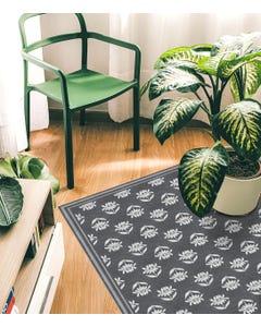Single Stem - Charcoal  Floor Flair - 5 x 7