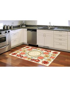 English Rose - Cream Floor Flair - 5 x 7