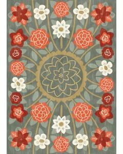 English Rose - Dusk Floor Flair - 5 x 7