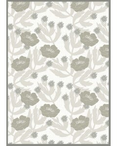 Tuscan Floral - Grey Floor Flair - 5 x 7