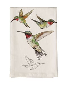 Ruby-Throated Hummingbird Towel