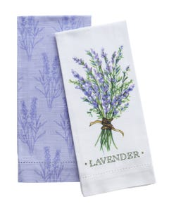 Lavender Hemstitch Towels