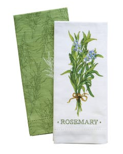 Rosemary Hemstitch Towels