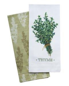 Thyme Hemstitch Towels