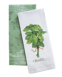 Basil Hemstitch Towels