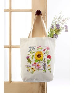 Wildflower Study Tote