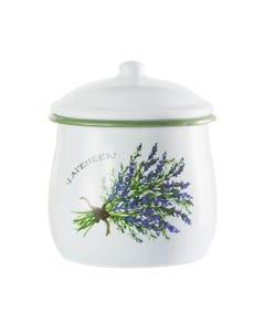 Lavender Enamel Jar with Lid