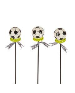 "CLR Soccer Ball 16"" Plant Pokes S/3"