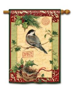 CLR Holiday Chickadee Standard Flag