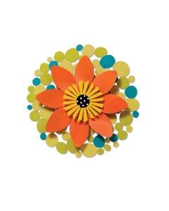"""CLR 13"""" Orange Flower on Green Dots"""