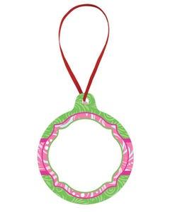 Green Swirl Ornament