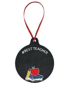 Hashtag Best Teacher Ornament