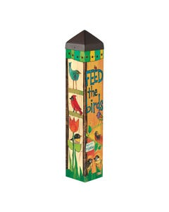 "Feed the Birds 20"" Art Pole"