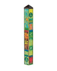 Peace and Love 3' Art Pole