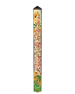All You Need is Love 6' Art Pole