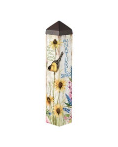 "Sunflower Sings 20"" Art Pole"