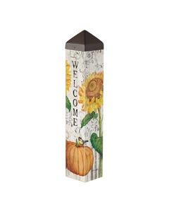 """Farmhouse Sunflower 20"""" Art Pole"""