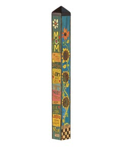 "Best Mom 40"" Art Pole"