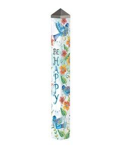 """Happy Bluebirds 40"""" Art Pole"""