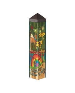 "Rainbow Bridge Dog 20"" Art Pole"