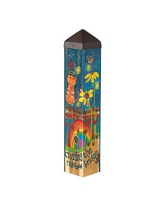 "Rainbow Bridge Cat 20"" Art Pole"
