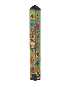 "Where Love Grows 40"" Art Pole"