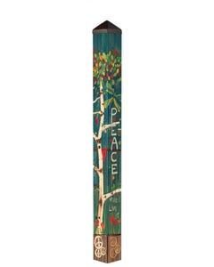 "Peace Tree 60"" Art Pole"