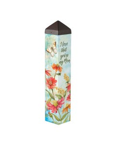 "Flowers for Mom 20"" Art Pole"
