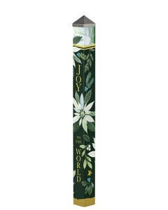 """Poinsettia Joy 60"""" Art Pole"""