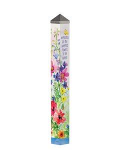 "Garden Memories 40"" Art Pole"