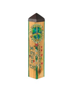 """All in this Together 20"""" Art Pole"""