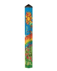 """Believe in a Wonderful World 60"""" Art Pole"""