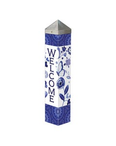 "Garden Blues 20"" Art Pole"