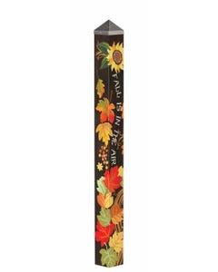 "Fall Grapevine 60"" Art Pole"