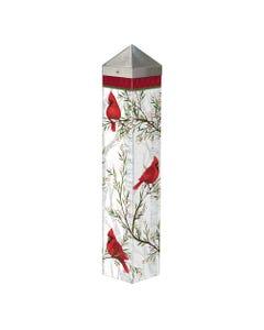 "Cardinals in Birch 20"" Art Pole"