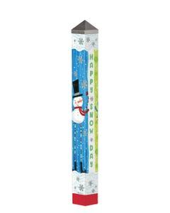 """Pom Pom Snowman 40"""" Art Pole"""