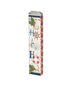 """Nautical Ho Ho Ho 13"""" Mini Art Pole"""